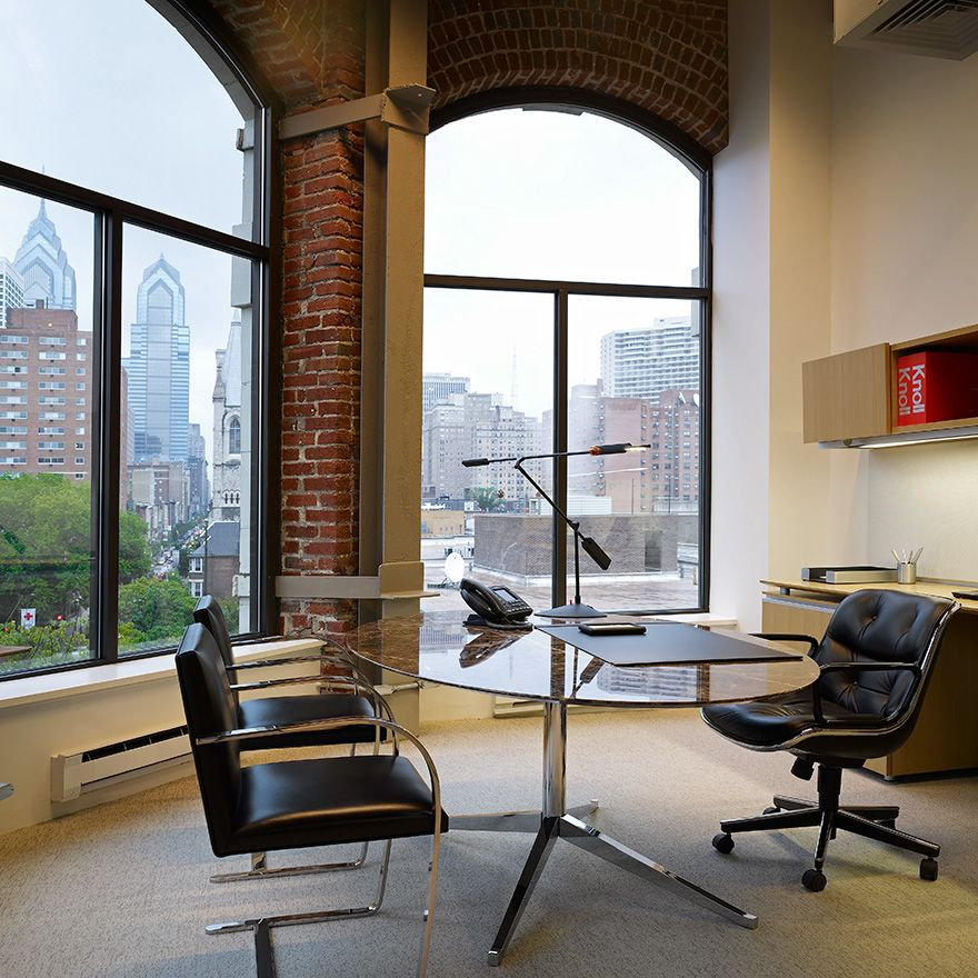 With The Knoll Pollock Executive Chair And Florence Knoll Desk Table On Hand Working Late Won T Seem Like Home Office Design Knoll Table Modern Office Design