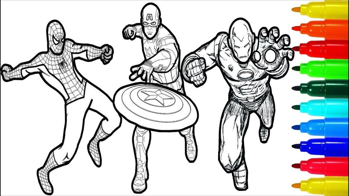 Captain America Coloring Page Spiderman Iron Man Captain America Wolverine Thor Hulk Coloring Birijus Com Captain America Coloring Pages Hulk Coloring Pages Spiderman Coloring