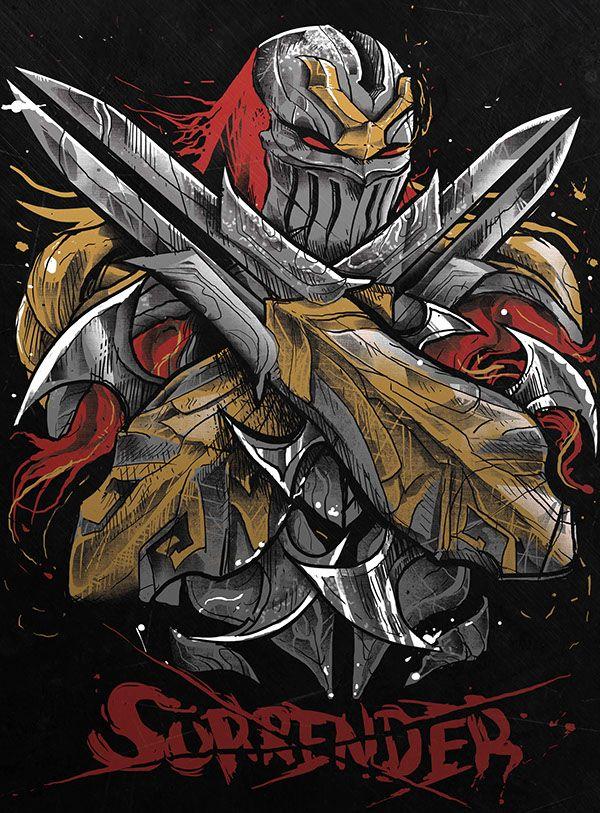 ZED By Marcel Amorim League Of Legends Ninja Yasuo