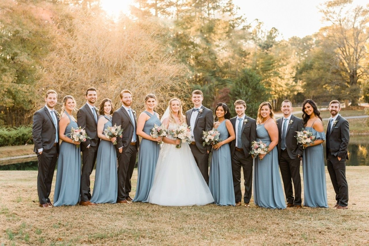 12++ Dusty blue wedding party inspirations