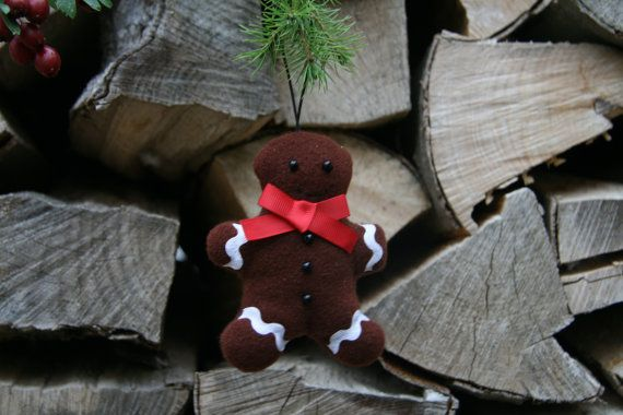 Weihnachtsdeko / Stoffanhänger Lebkuchenmann от BogThomHandmade