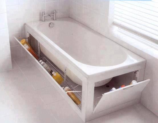 Wow, cool idea to storage your bathtub items