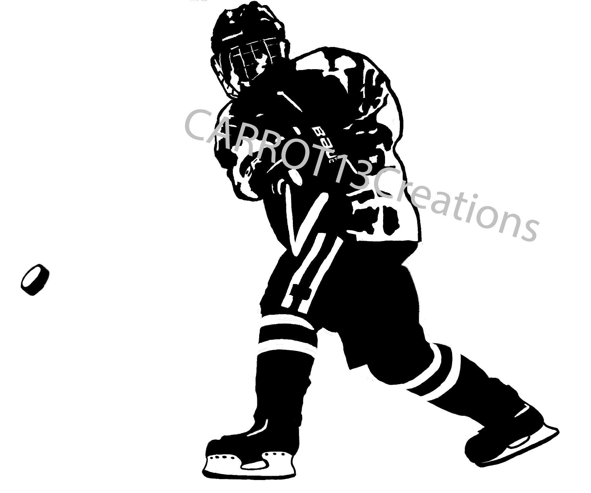 Youth Hockey Player Svg Png Jpg Files For Vinyl Decal Etsy In 2020 Silhouette Projects Silhouette Svg Vinyl Decals