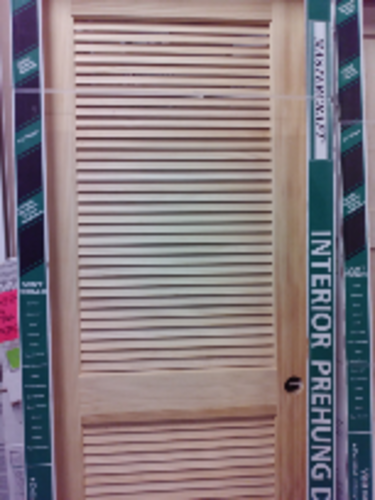 30 X 80 Ready To Finish Pine Louvered Interior Door At Menards In 2020 Louvered Interior Doors Tall Cabinet Storage Doors Interior