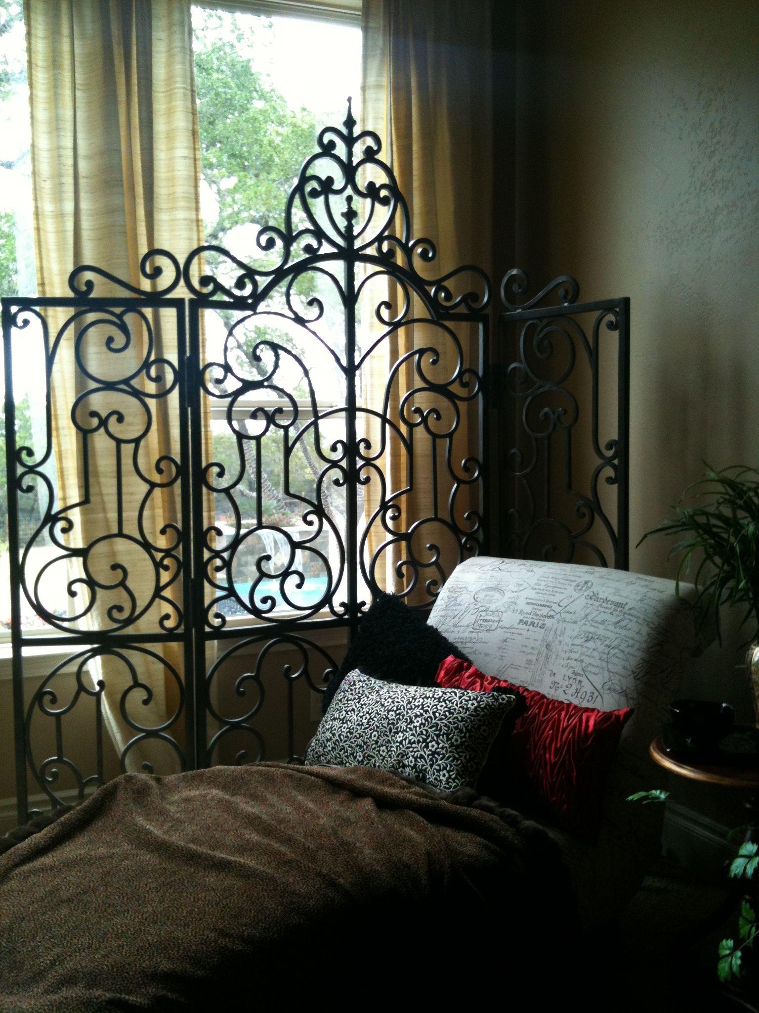Rod Iron Room Divider Home Decor Ideas Bedroom Divider