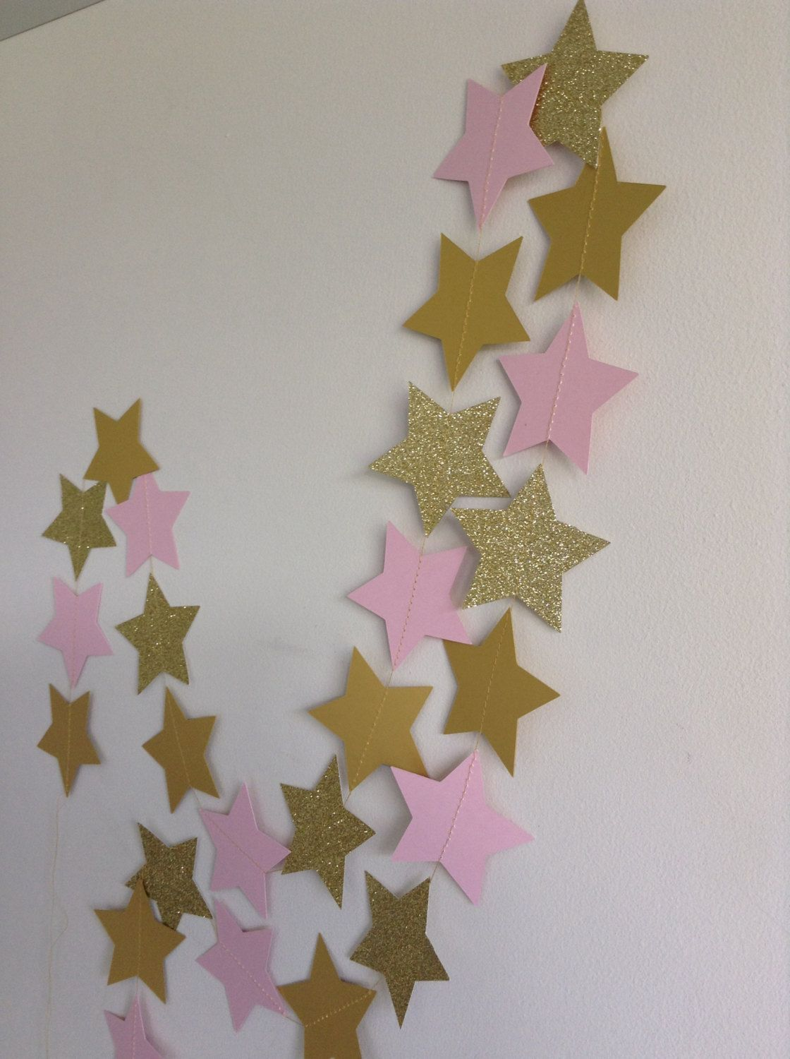 Pink and Gold Star Garland Twinkle Twinkle Little Star