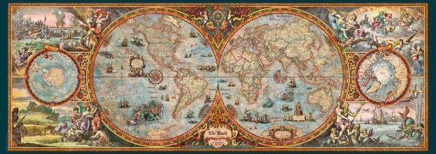 Hemisphere Map / World Map (Heye Puzzle) | Puzzle Motive | Pinterest ...