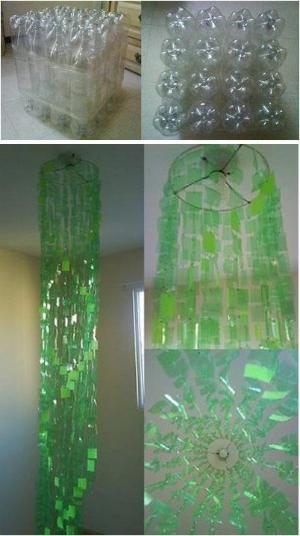 Upcycled plastic bottle art by kari