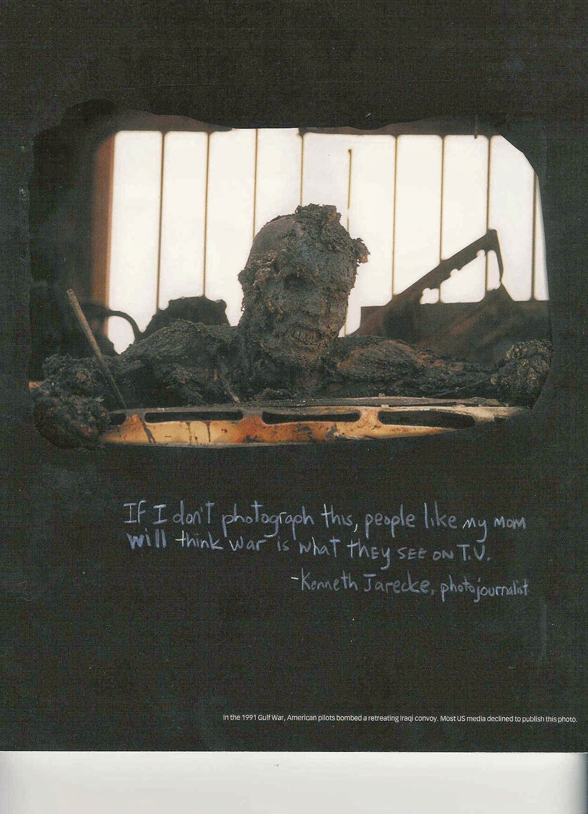 in the s general schwarzkopf led the us forces in the persian this photo at first was regarded by many editors as too disturbing to print but later became one of the most famous images of the first gulf war