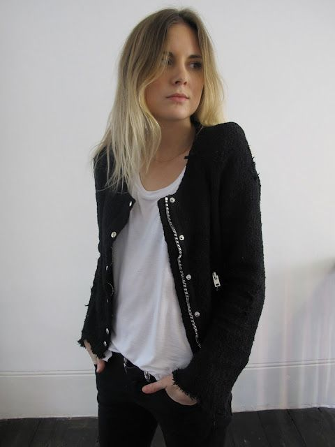 Lucy from Fashion Me Now in an IRO jacket