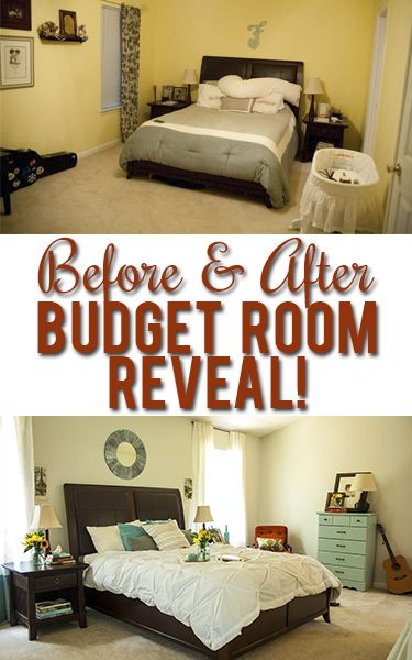 Surprise master bedroom makeover on a tiny budget! | Before ...