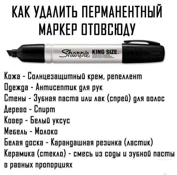 Как удалить пятна и рисунки маркером отовсюду / Лайфхаки / ВТОРАЯ УЛИЦА
