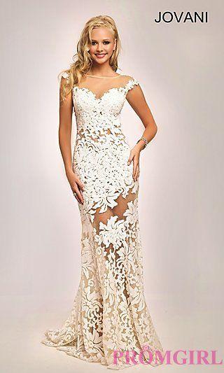 Long Sequin Embroidered Jovani Prom Dress at PromGirl.com | Skyler\'s ...