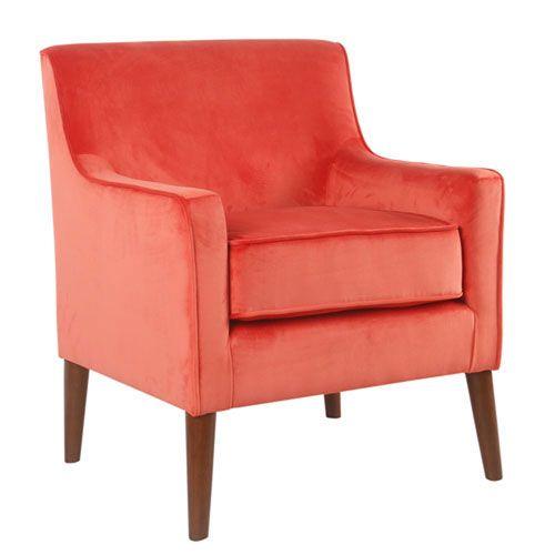 Best Cooper Orange Accent Chair Velvet Accent Chair Mid 400 x 300