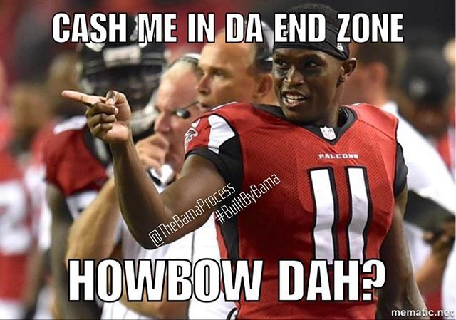 The Nfl Is Coated With Bama Boys Let S Take A Moment To Celebrate Julio Jones Howbowdah Juliojones Alabama Football Funny Julio Jones Julio Jones Falcons