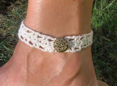 Crochet Anklet Patterns Crocheted Chokers Anklets
