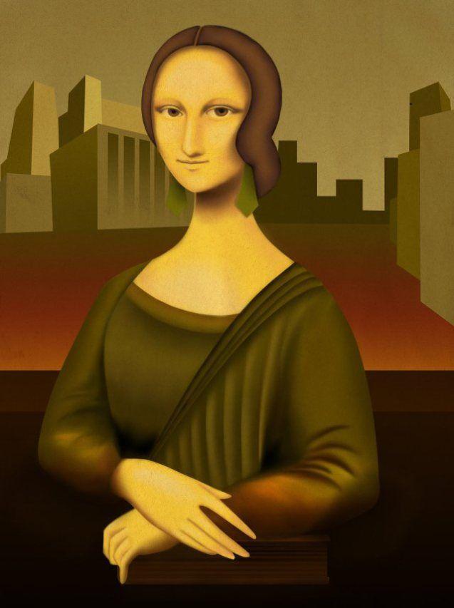 Art Deco Mona Lisa [Priscilla Alves (Prikimoto)] (Gioconda / Mona Lisa)