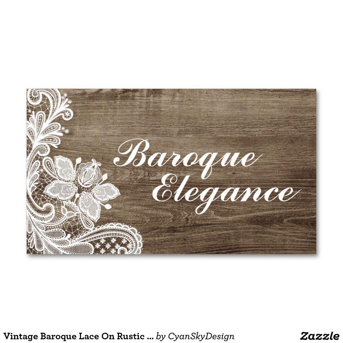 Vintage #Baroque #Lace On #Rustic #Elegant Barn #Wood #Business ...