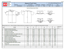 Apparel Product Specification Sheet And Its Importance In Product Development Online Clothing S Cost Sheet Designer Clothing Patterns Fashion Design Template