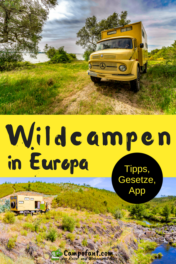 Photo of Wildcamping Europe: free standing with the camper – Campofant