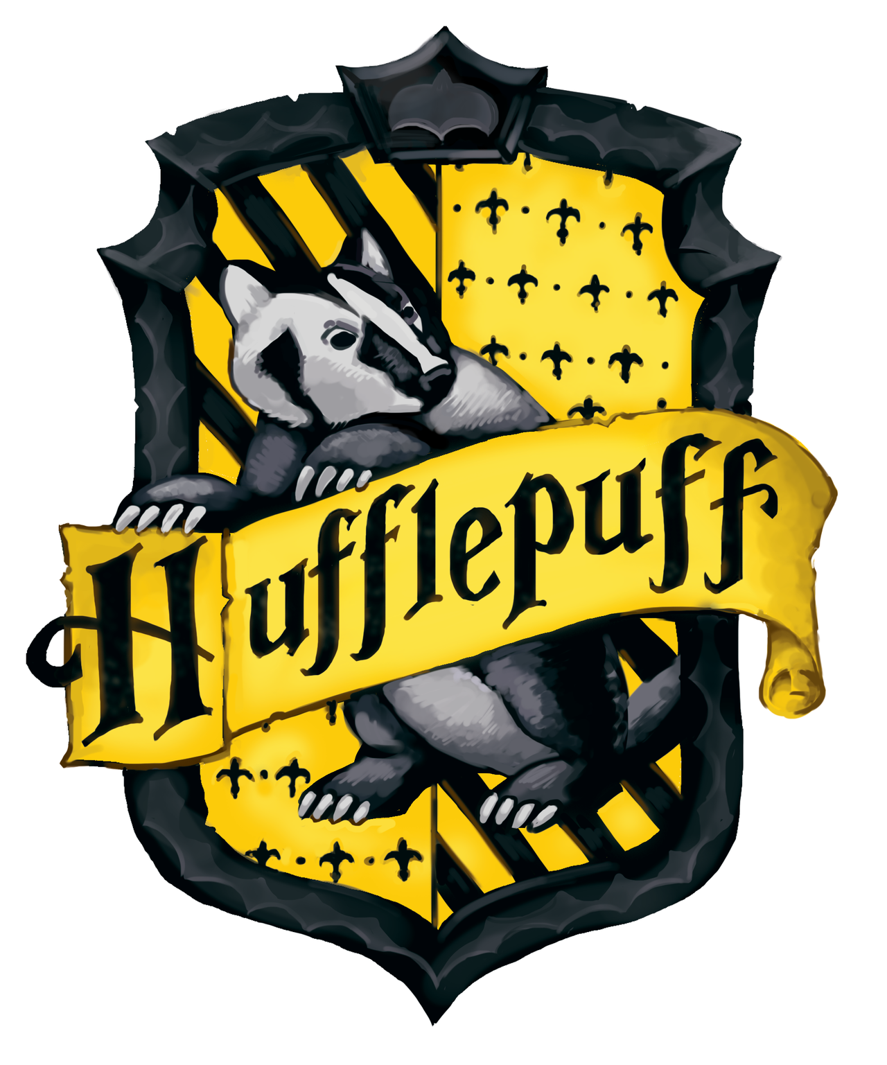 Hufflepuff Crest Harry potter drawings, Harry potter