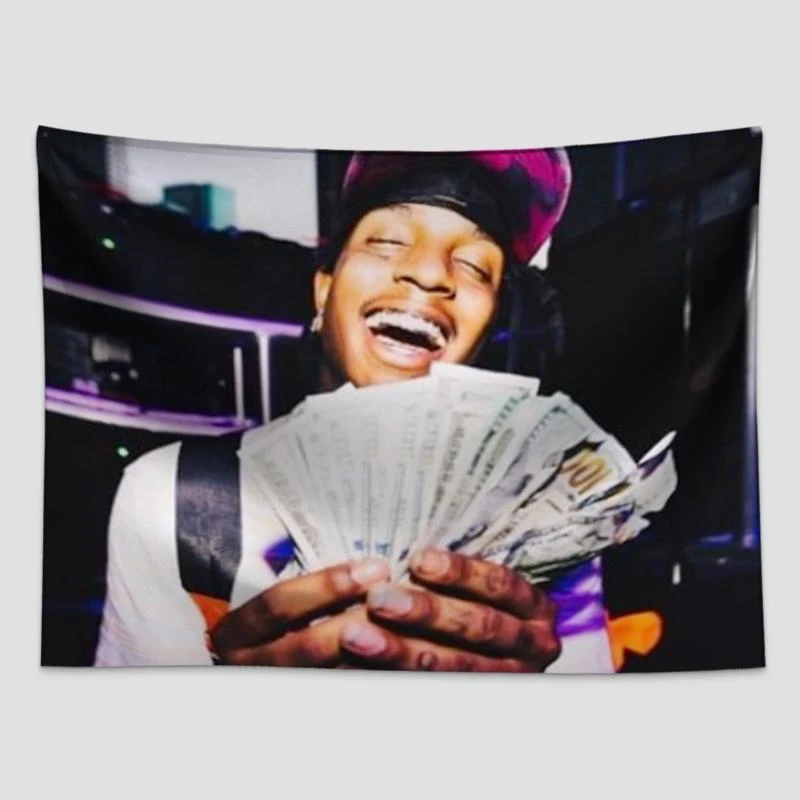 Ski Mask The Slump God Wall Tapestry The Wallart Tapestries Are Made Of Lightweight Materials The Latest Printing Technology G Wall Tapestry Tapestry Wall Art