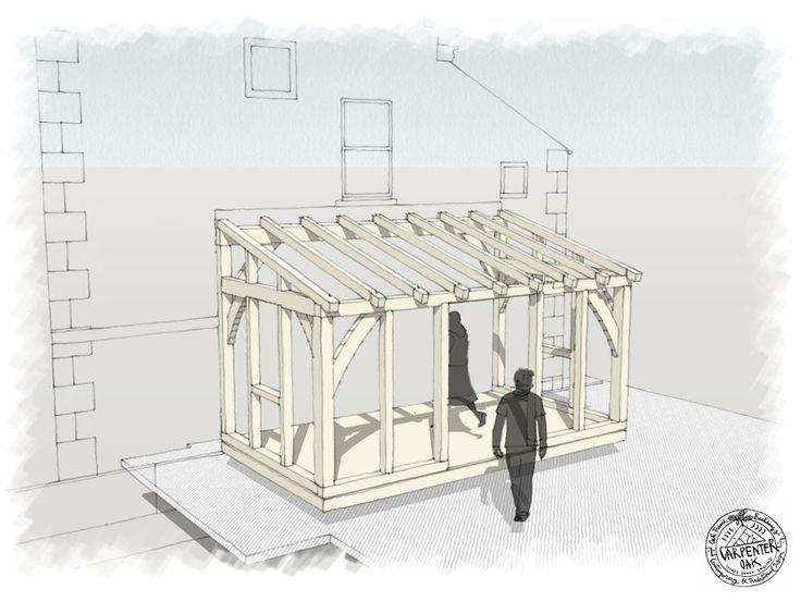 Resultado de imagen para small lean to conservatory drawings deck - plan agrandissement maison gratuit