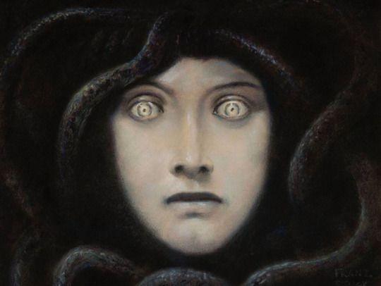 Franz Von Stuck - Medusa (1892)