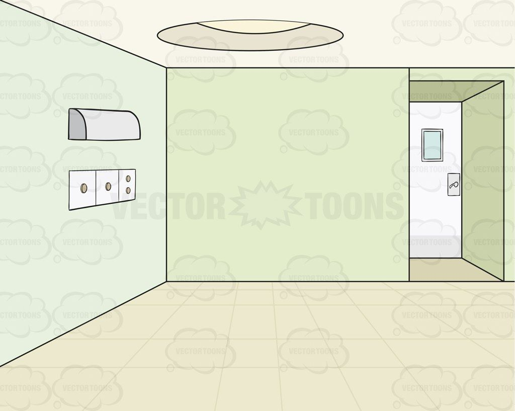 Empty Room With Green Walls Background Cartoon Clipart - Vector Toons