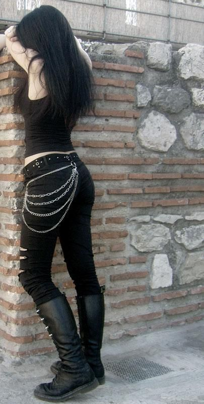 nice aaand i wore chains on my studded belts every time i did wear pants..which were ... by http://www.polyvorebydana.us/gothic-fashion/aaand-i-wore-chains-on-my-studded-belts-every-time-i-did-wear-pants-which-were/ ~SheWolf★