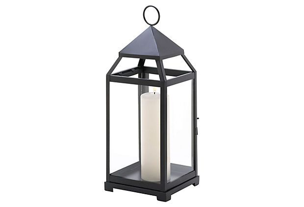 "S/2 18"" Contemporary Lanterns, Black on OneKingsLane.com"