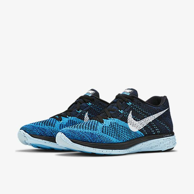 reputable site 2504d 12af8 Big Discount 2018 Men Nike Flyknit Lunar 3 Blue Lagoon Ice Cube Blue White  698181 004