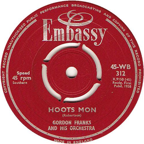 Hoots Mon - Gordon Franks and His Orchestra Nov '58