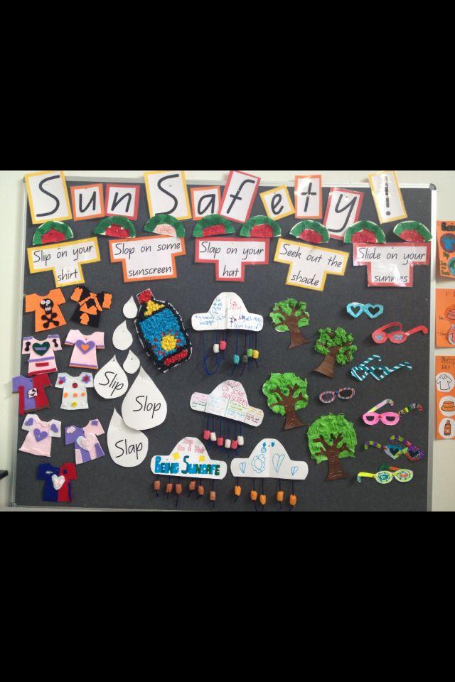 Sun Safety Display Preschool Sun Safety Sun Safety Activities