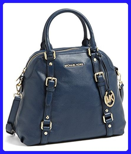Michael Kors Blue Large Bedford Satchel Bowling