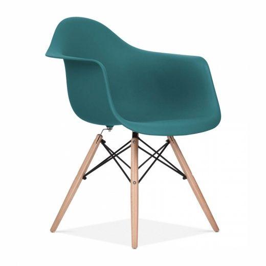 90.00 chaise design & moderne de style daw en bleu sarcelle   cult ... - Design Meubles Sarcelles