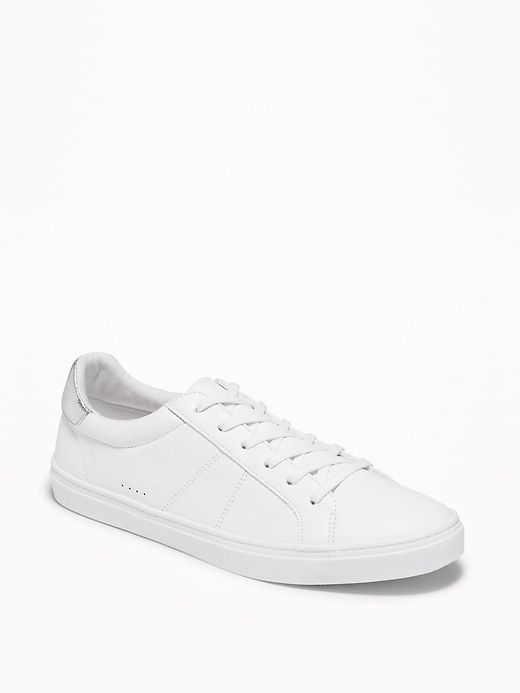 Faux-Leather Sneakers for Women   Old