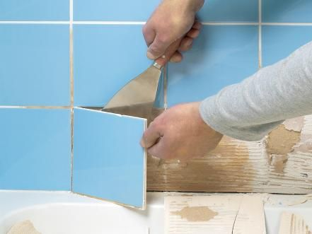 learn how to repair common wall tile problems such as replacing a broken tile regrouting