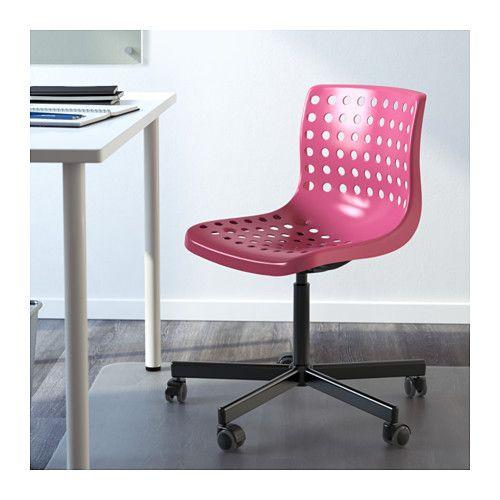 SKÅLBERG / SPORREN Swivel Chair   Pink/black,     IKEA