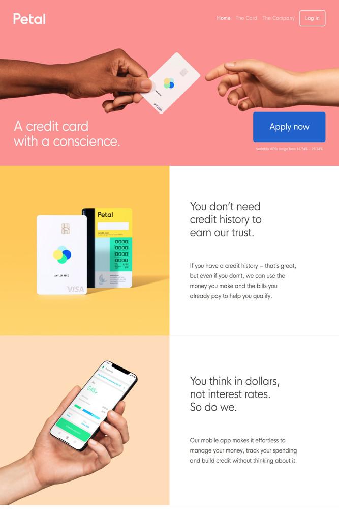 Landing Page Screenshots Examples Credit Card Design Business Card App Web Design