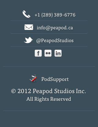 Mobile Footer - Peapod Studios | Design | Web design