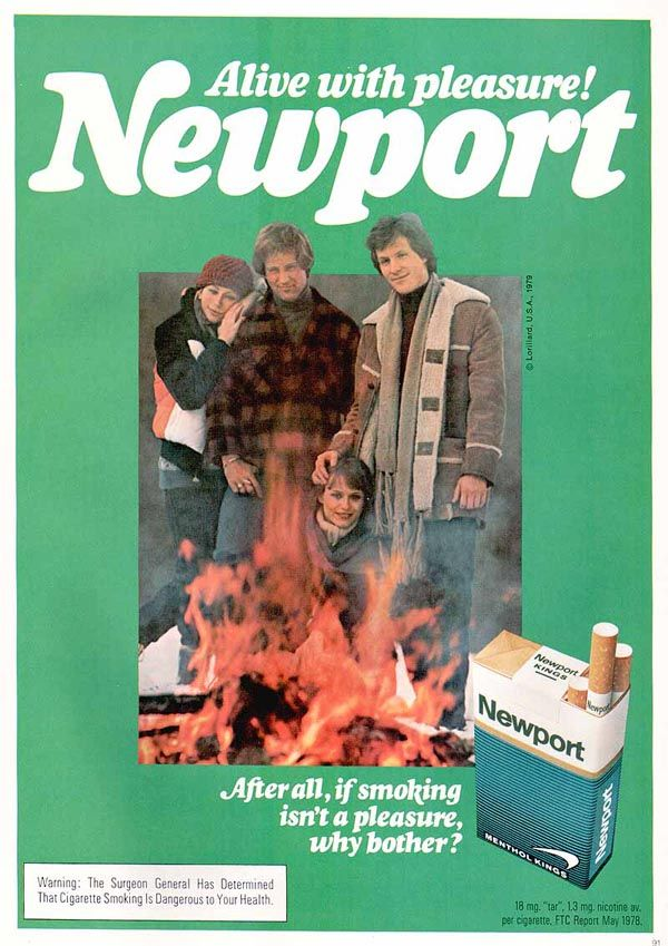 Image Detail For -newport Cigarette Ad Old Magazine Ad For