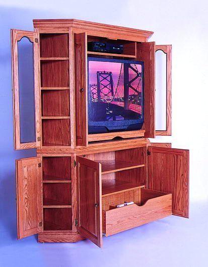 Amish Bellevue Corner Media Cabinet Pinterest Media Cabinet Bi