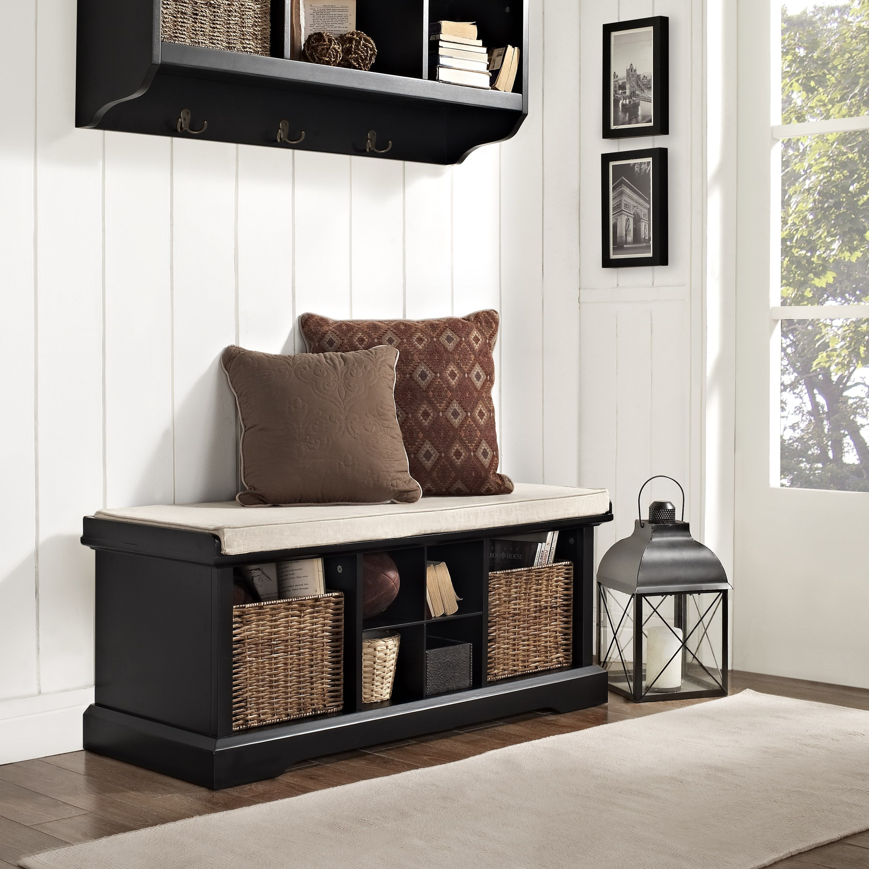 Tremendous Brennan Entryway Storage Bench In Black Apartment Helps Ncnpc Chair Design For Home Ncnpcorg