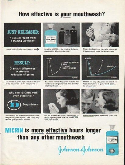 1961 JOHNSON & JOHNSON vintage magazine advertisement