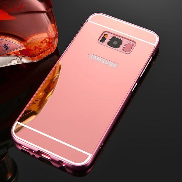 2 In 1 Mirror Cover For Samsung Galaxy S8 S8 Plus Case Luxury Plating Mirror Phone Cases Ultra Thin Clear Shell Capa Fundas Moviles Fundas Para Samsung Fundas