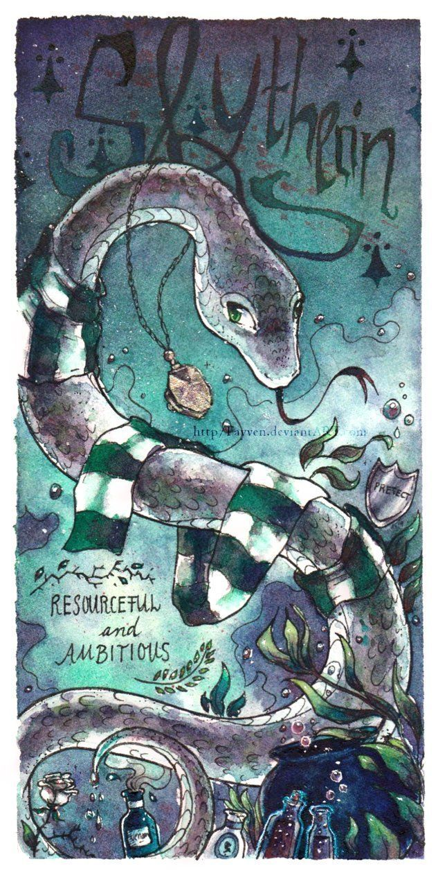 Slytherin House Of The Serpent Members Of This House Are Said To Be Cunning R Fanart Harry Potter Harry Potter Anime Slytherin