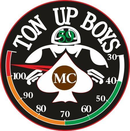 T Shirt Logo Cafe Racer Ton Up Boys Retro 1960s 100 Mph Racer Motorcycle T Shirt