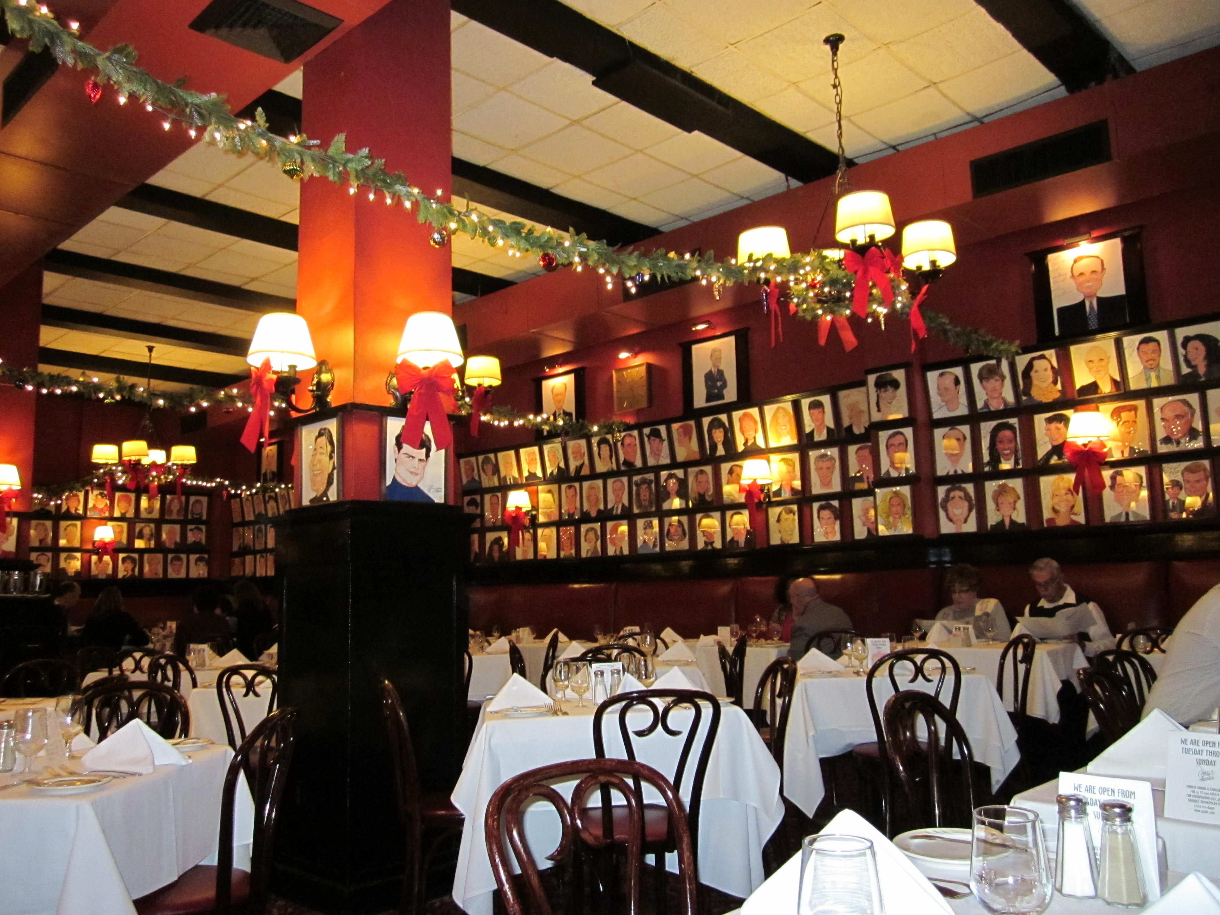 Image result for photos of sardis nyc at christmas