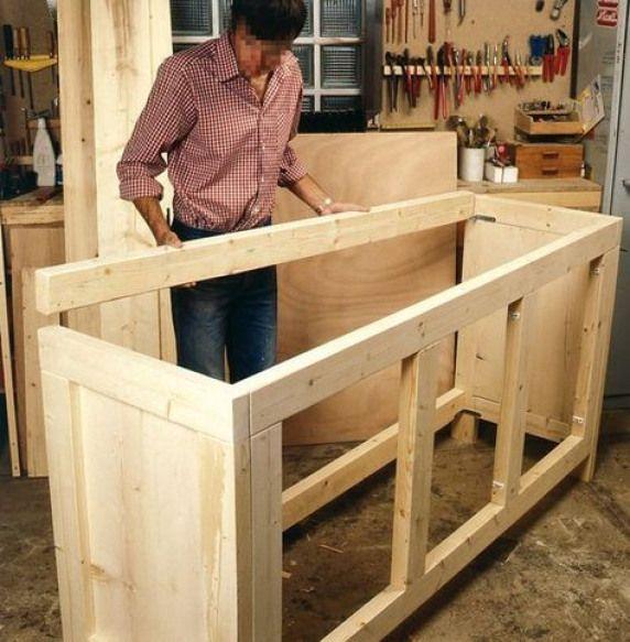 Plywood Garage Cabinet Plans: Fabriquer Meuble Rangement9 #woodworkingshop #woodworking